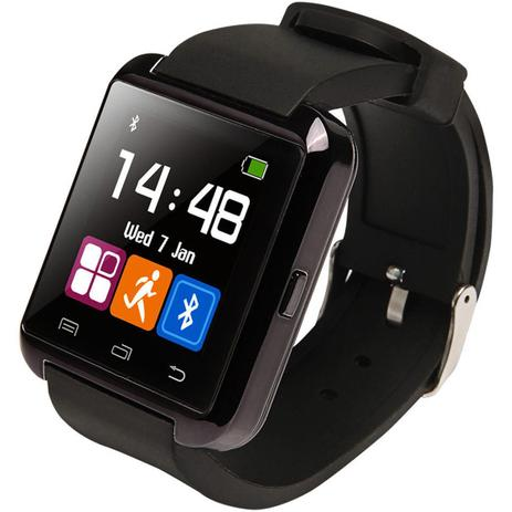 00d6baaed96 Relogio Bluetooth u8+ Plus Smartwatch Touch Screen Sem fio Inteligente  Ligação Viva Voz Preto