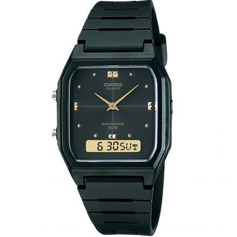 06e365917ac Relógio Borracha Masculino Vintage Ana-digi - Casio - Relógio ...