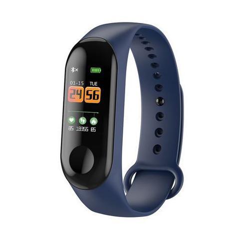 Imagem de Relógio Bracelete Dagg Pedômetro Inteligente Bluetooth Medidor Frequência Cardíaca AZUL