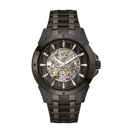 6598caca105 Relógio Bulova 98a147 Automatico Skeleton Black - Relógios e ...