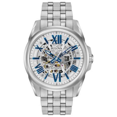 b08e47f8d05 Relógio Bulova Automático Esqueleto WB31998F   96A187 - Relógio ...