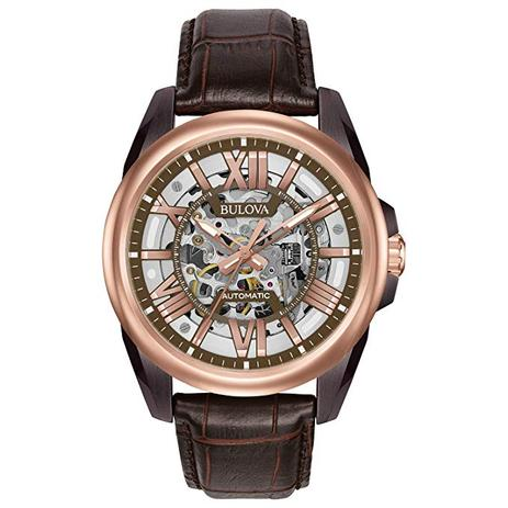 8d7ee80c6a4 Relógio Bulova Esqueleto Automático Wb31998M   98A165 - Relógio ...