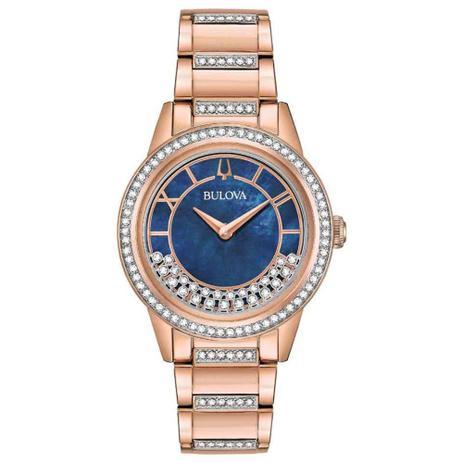 90d143ee0c6 Relógio Bulova Feminino Crystal TurnStyle 98L247 - Relógio Feminino ...