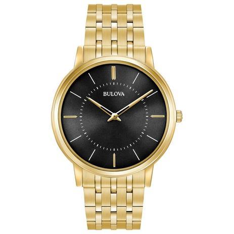 53e47673725 Relógio Bulova Masculino Ref  Wb22436u Slim Dourado