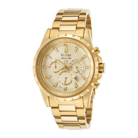 3a3d4634498 Relógio Bulova Masculino Ref  Wb30864x Cronógrafo Dourado - Relógio ...