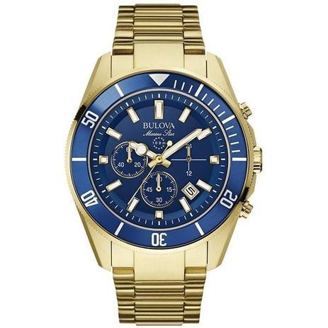 77f129c881b Relógio Bulova Masculino Ref  Wb31774z Marine Star Dourado - Relógio ...