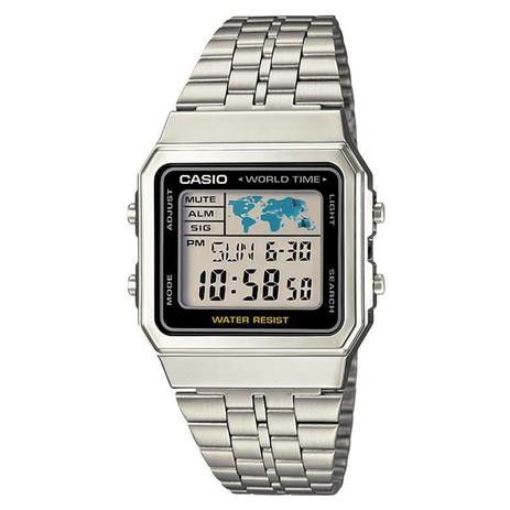 4e94083b934 Relógio Casio Digital Unissex Vintage World Time - A500WA-1DF ...