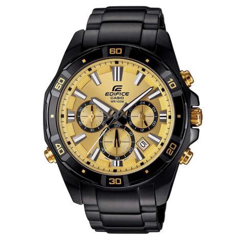 da380696faf Relógio Casio Edifice Cronógrafo Analógico Masculino EFR-534BK-9AVDF ...
