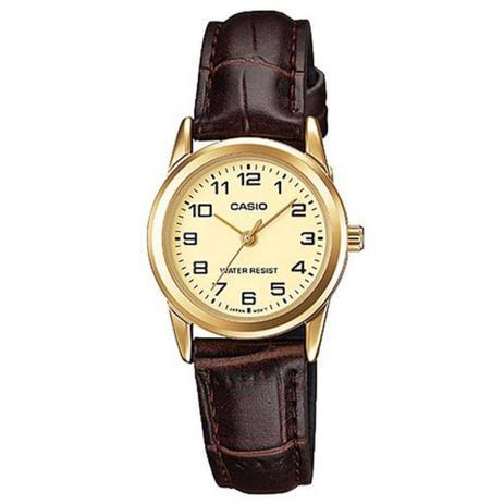 b117a66b806 Relógio Casio Feminino LTP-V001GL 9BUDF Dourado Couro - Relógio ...