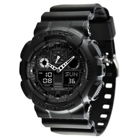 2fa33feab26 Relógio Casio G-Shock Anadigi GA-100-1A1DR - Relógio Masculino ...
