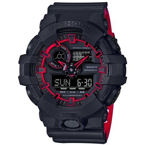 d355e4b60cb Relógio Casio G-shock Anadigi Ga-700se-1a4dr Preto vermelho ...