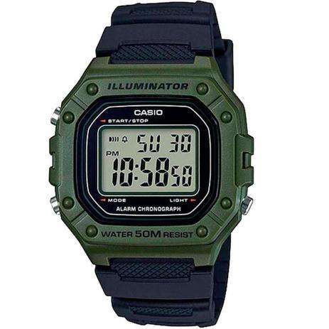 Imagem de Relógio Casio Illuminator Digital Masculino Verde W-218h-3avdf