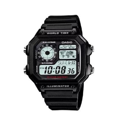 Imagem de Relógio Casio Masculino Digital AE1200WH-1AVDF