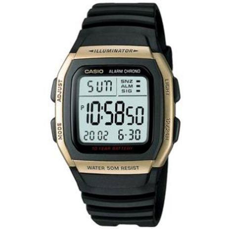 Relógio Casio Masculino Preto Dourado W96h9avdfu - Relógio Masculino ... 0816c36194