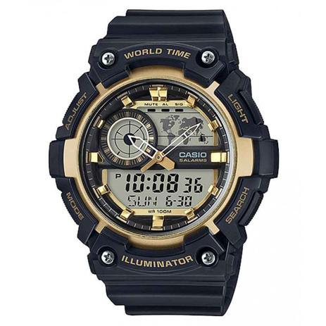 ca60f5efc6e Relógio Casio Masculino World Time Anadigi AEQ200W9AVDF - Relógio ...