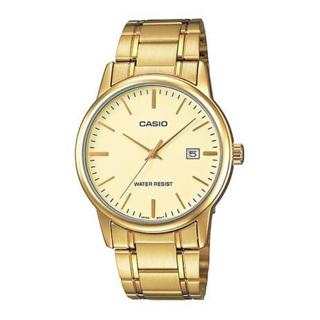 a330f5e4f0e5 Relógio Casio Unissex Analógico Dourado Social MTP-V002G-9AUDF ...