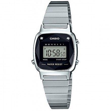 73e76886225 Relógio Casio Vintage Diamonds Prata Feminino LA670WAD-1DF - Relógio ...
