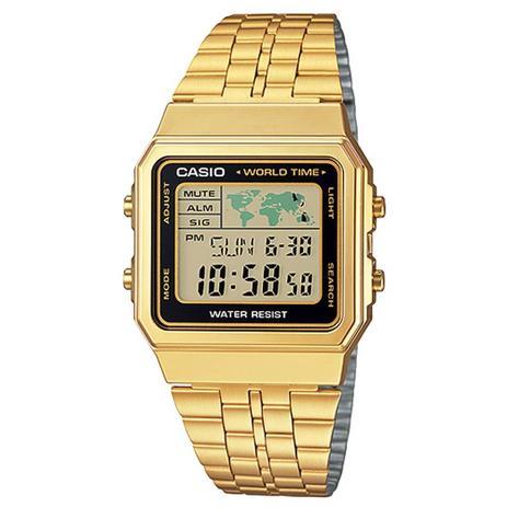 0c8bfa8e67c Relógio Casio Vintage Digital Dourado Feminino A50 - Relógio ...