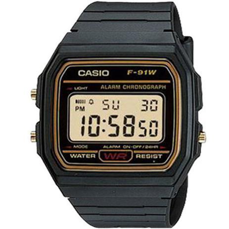 a2eb4754f Relógio Casio Vintage F-91wg-9qdf Iluminator - Relógio Masculino ...