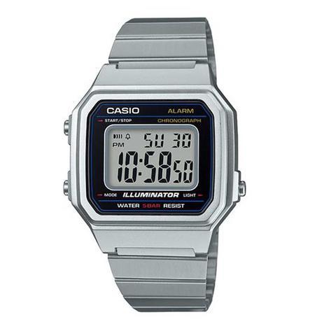 fc85178c7e4 Relógio Casio Vintage Prata Digital Unissex B650WD-1ADF - Relógio ...