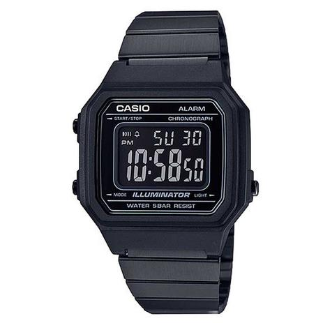 41025850d4ca Relógio Casio Vintage Preto Digital Unissex B650WB-1BDF - Relógio ...