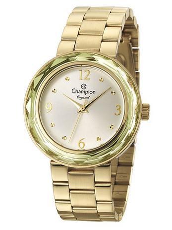 76467c6065e Relógio Champion Crystal Feminino Dourado CN27134H - Relógio ...