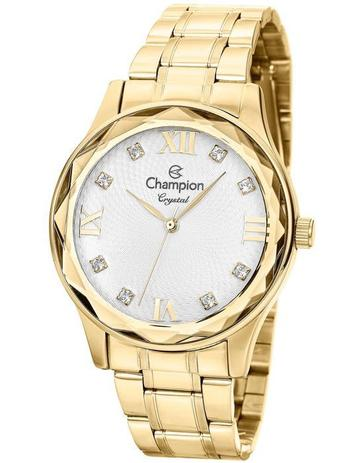 06fe18069de Relógio Champion Crystal Feminino Dourado CN27465H - Relógio ...