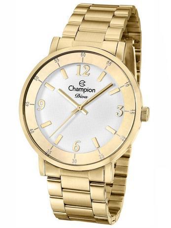 9f45857f82e Relógio Champion Diva Feminino Dourado CN29687H - Relógio Feminino ...