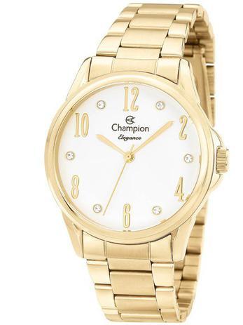 bb2def4f481 Relógio Champion Elegance Feminino Dourado CN26242H - Relógio ...