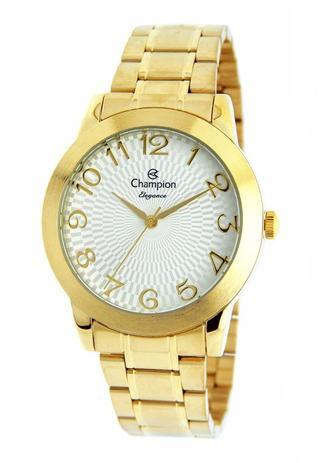 934481d4424 Relógio Champion Elegance Feminino Dourado CN26733H - Relógio ...
