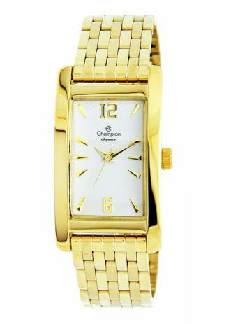 14be6619565 Relógio Champion Elegance Retangular Dourado CN26608H - Relógio ...