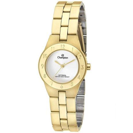 0d27c389edf Relógio Champion Feminino Analógico Dourado CA28378H - Relógio ...