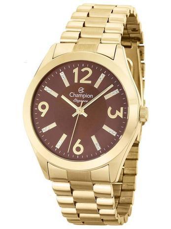 84411f961d9 Relógio Champion Feminino Analógico Dourado CN25225O - Relógio ...
