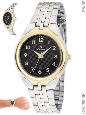 563fb41e11 Relógio Champion Feminino Ch22993p Misto Dourado e Prata - Relógio ...