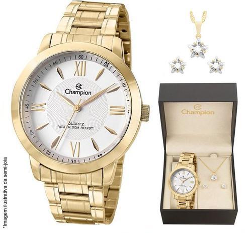 11d899d29dc Relógio Champion Feminino CH24697J + Colar e Brincos - Relógio ...