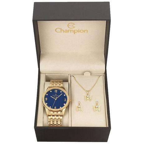 435a22e7aa7 Relógio Champion Feminino CN26082K + Colar e Brincos - Relógio ...