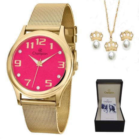 3b028b474c2 Relógio Champion Feminino CN29007J + Colar e Brincos - Relógio ...