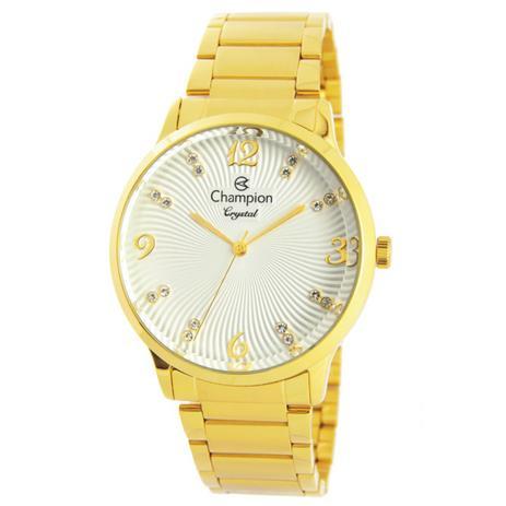 c81ccfa1c4c Relogio Champion Feminino Dourado CN25556H - Relógio Feminino ...