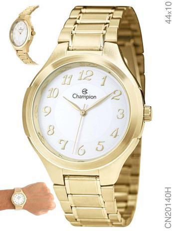 b64a3ba08f8 Relógio Champion Feminino Dourado grande Cn20140h Original - Relógio ...