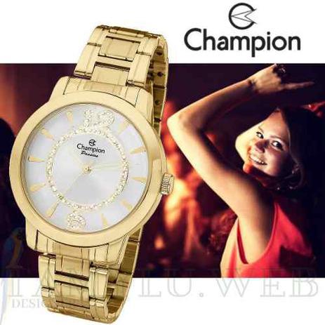 a02cc2ddd23 Relógio Champion Feminino Passion Dourado Ch24259h - Relógio ...