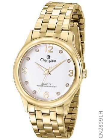 a953f9a1f86 Relógio Champion Feminino Quartz Dourado CN28991H - Relógio Feminino ...