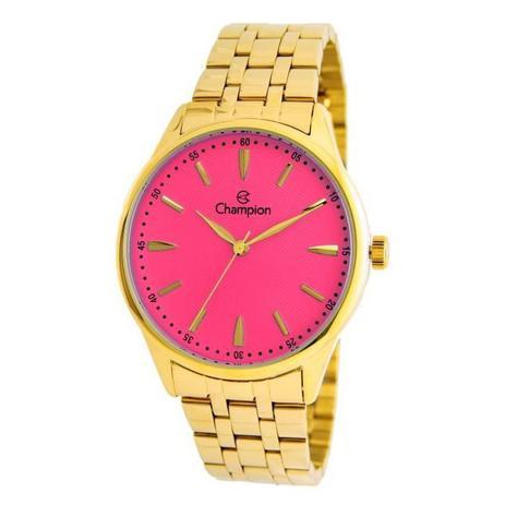 6d15be0b0e5 Relógio Champion Feminino Ref  Cn29516l Casual Dourado - Relógio ...