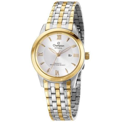 c691aa782b6 Relógio Champion Feminino Ref  Cs28218s Clássico Bicolor - Relógio ...