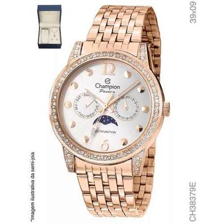 8050b627f8f Relógio Champion Feminino Rose Ch38379e + Kit Brinde - Relógio ...