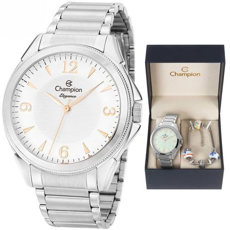 d4ce577e81f Relógio Champion Kit Feminino Cn26091c C garantia E Nf - Relógio ...
