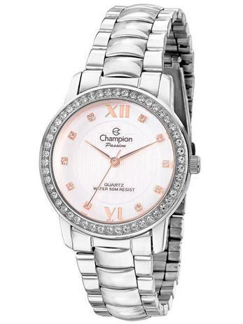 09c3853a31e Relogio Champion Passion Feminino Prata Strass CN29123Q - Relógio ...