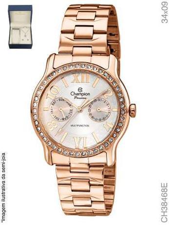 6d86584eac4 Relógio Champion Passion Feminino Rose Ch38468e + Kit Brinde ...