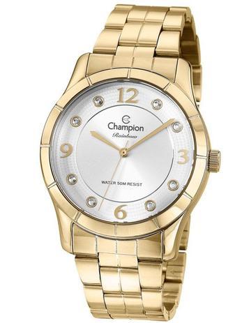 0a90757057e Relógio Champion Rainbow Feminino Branco Strass CN29909H - Relógio ...