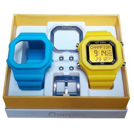30bf006cb32 Relógio Champion Yot Original Cp40180x Azul Amarelo - Relógio ...