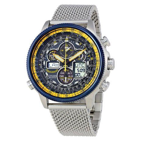 edca88a9e6f Relógio Citizen Eco-drive Navihawk Blue Angels Jy8031-56l - Relógios ...